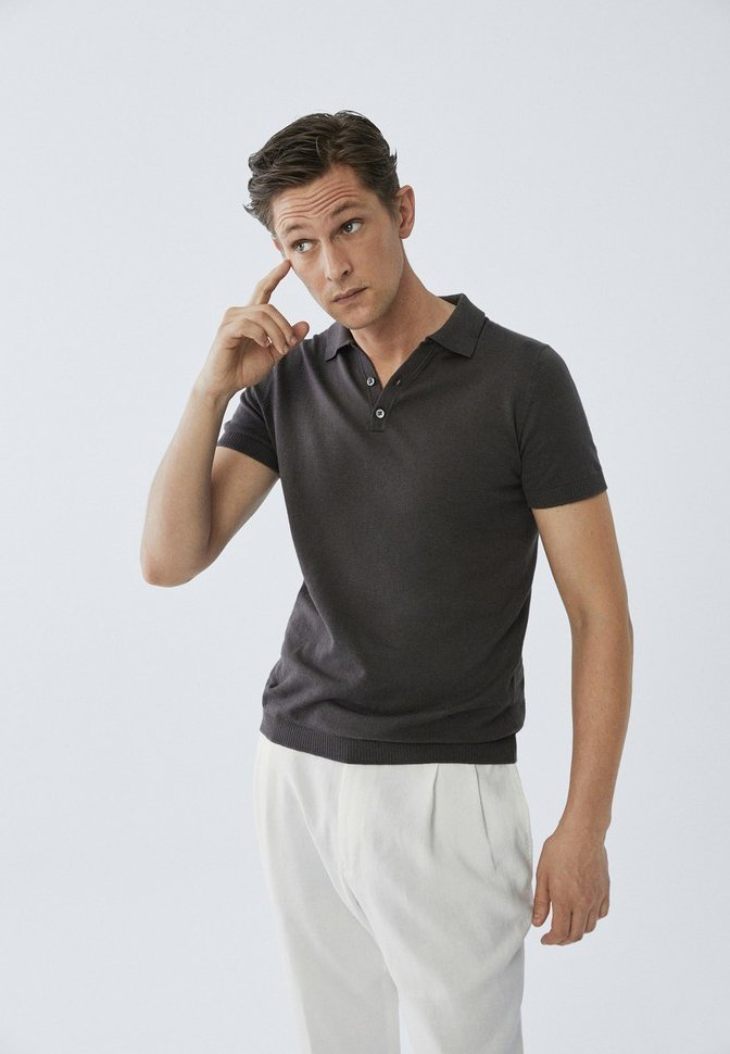 Massimo Dutti LIMITED EDITION - Koszulka polo - grey