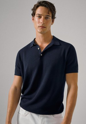 Polo shirt - blue-black denim