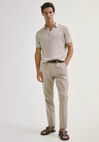 Massimo Dutti - Polo shirt - beige - 0