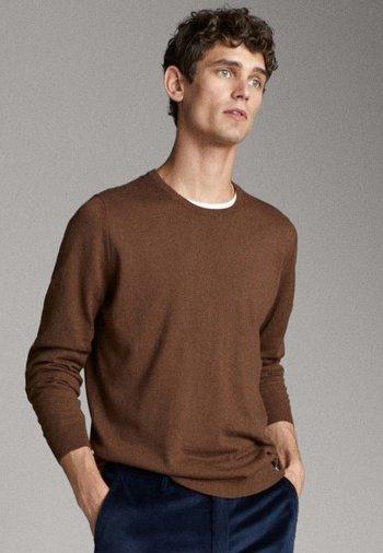 Massimo Dutti - MIT ELLBOGENSCHONERN - Sweatshirt - brown