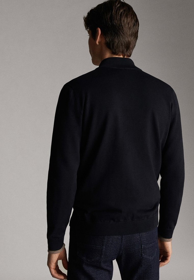 Massimo Dutti KOMBINIERTER BAUMWOLL-CARDIGAN 00916442 - Bluza rozpinana - blue