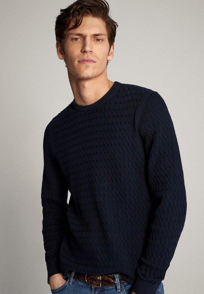 Massimo Dutti Sweter - blue-black denim