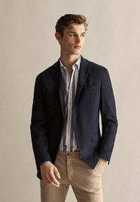 Massimo Dutti - MIT STRUKTURMUSTER  - Blazer jacket - dark blue - 0