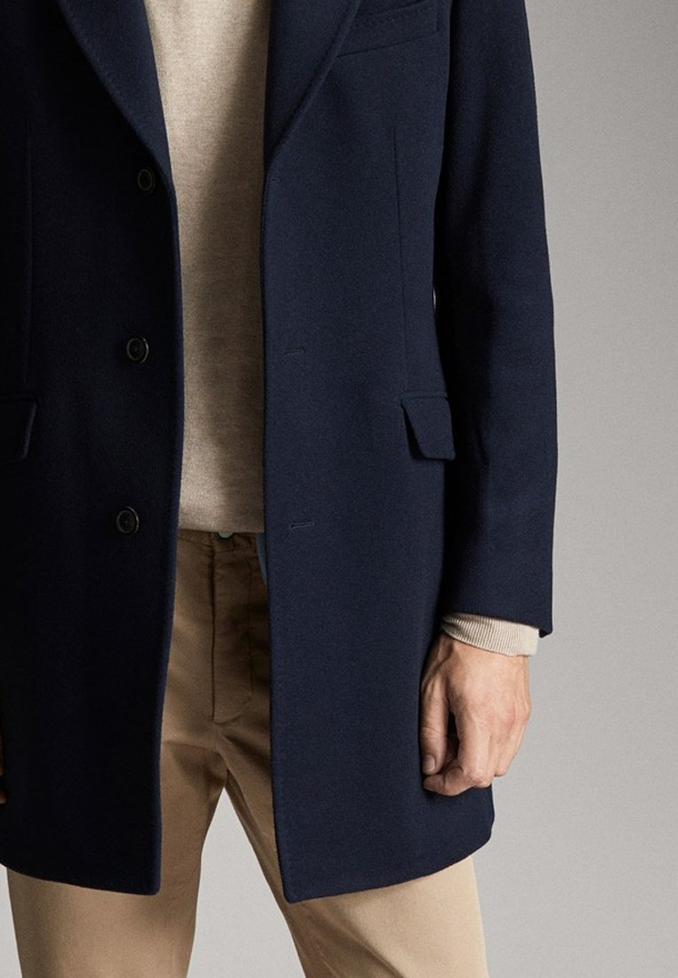 Massimo Dutti SLIM-FIT - Manteau court dark blue