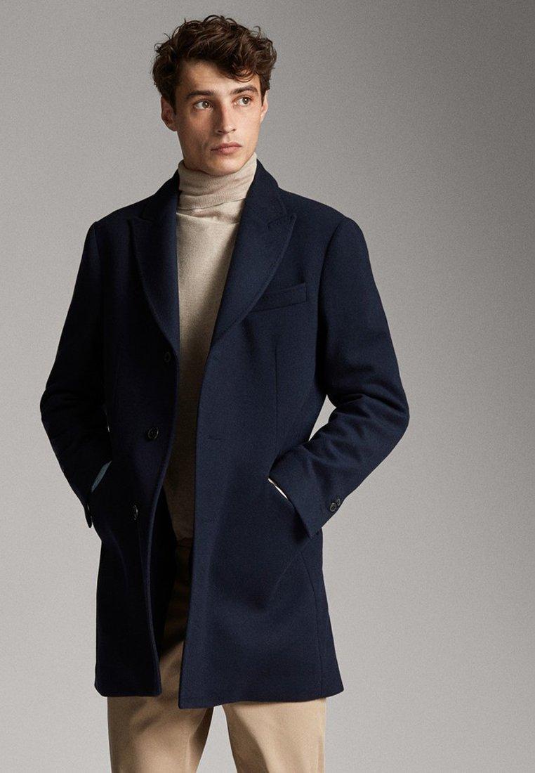 Massimo Dutti - SLIM-FIT - Short coat - dark blue