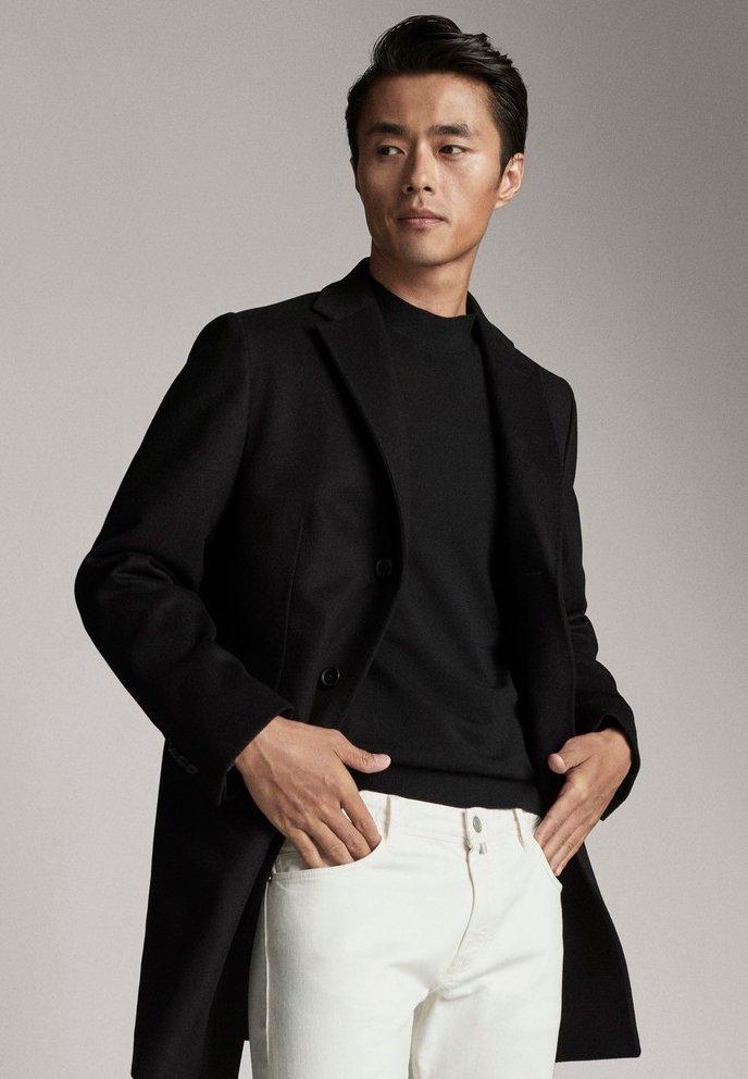 Massimo Dutti - Krótki płaszcz - black