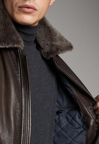 Massimo Dutti - Leren jas - brown - 4