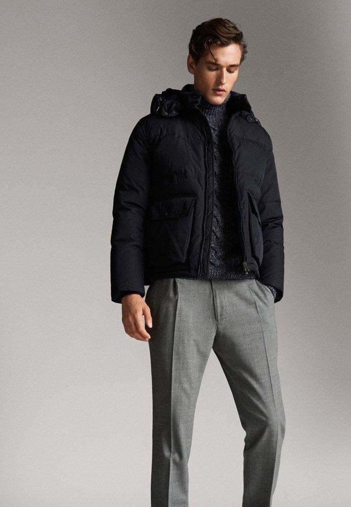 Massimo Dutti - Gewatteerde jas - dark blue
