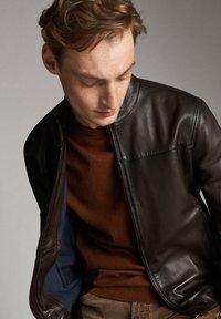 Massimo Dutti - Leren jas - brown - 5