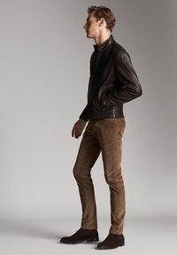 Massimo Dutti - Leren jas - brown - 1