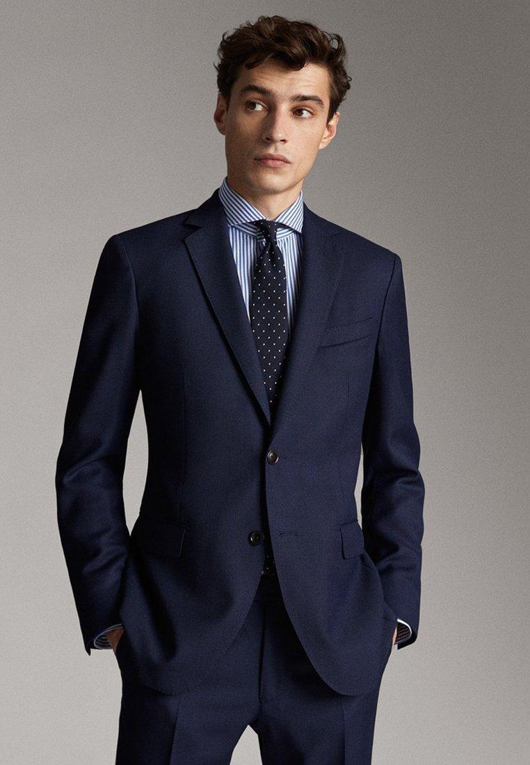 Massimo Dutti - SLIM FIT - Blazer jacket - blue