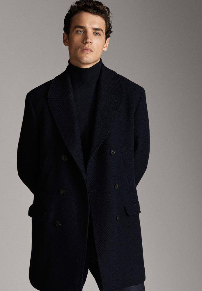 Massimo Dutti - Cappotto corto - blue