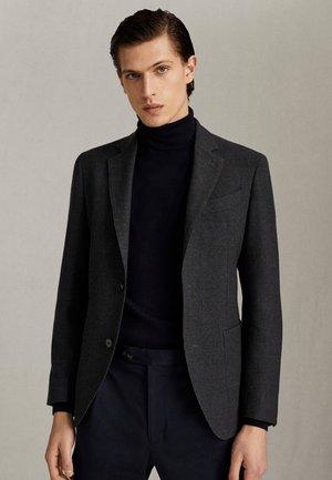 ELEGANTER SLIM-FIT-BLAZER AUS REINER WOLLE MIT STRUKTURMUSTER 02 - Blazer jacket - grey