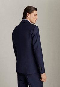 Massimo Dutti - MARINEBLAUER SLIM-FIT-BLAZER AUS WOLLE MIT STRUKTURMUSTER 020043 - Suit jacket - blue - 1