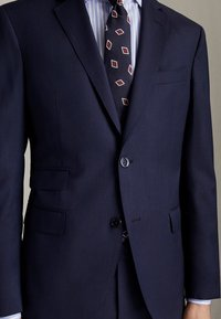 Massimo Dutti - MARINEBLAUER SLIM-FIT-BLAZER AUS WOLLE MIT STRUKTURMUSTER 020043 - Suit jacket - blue - 3
