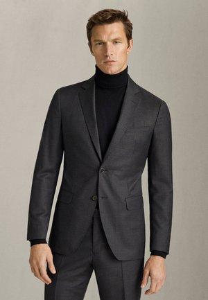 BLAZER IM REGULAR-FIT AUS REINER WOLLE MIT FISCHGRÄTMUSTER 02008 - Suit jacket - grey