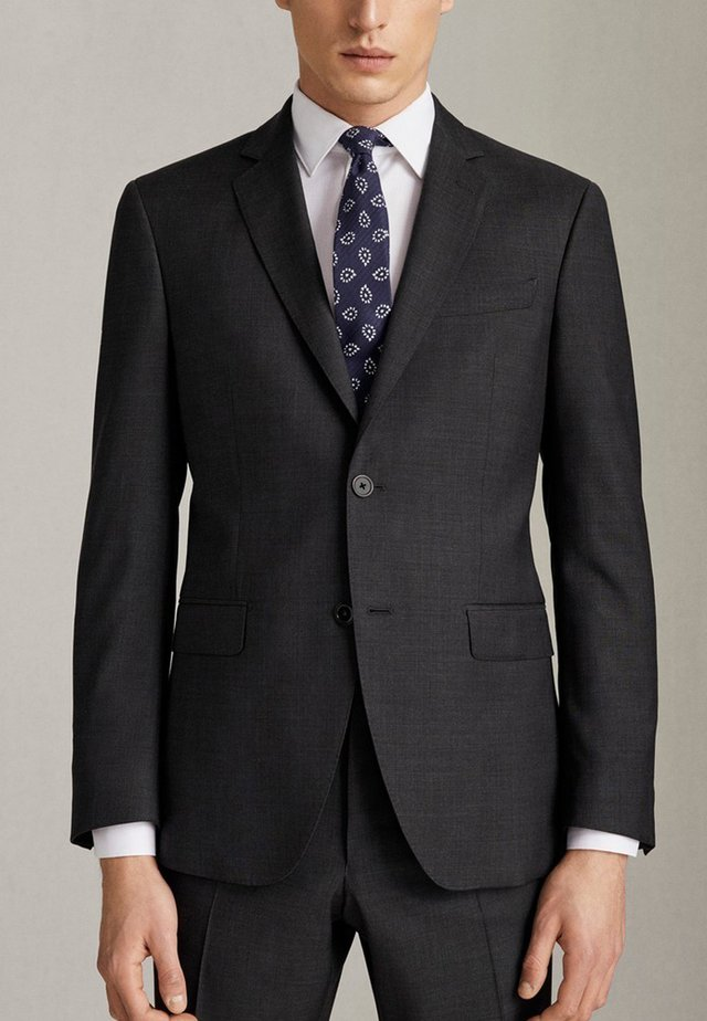 SLIM-FIT-BLAZER AUS REINER WOLLE 02001321 - Marynarka garniturowa - dark grey