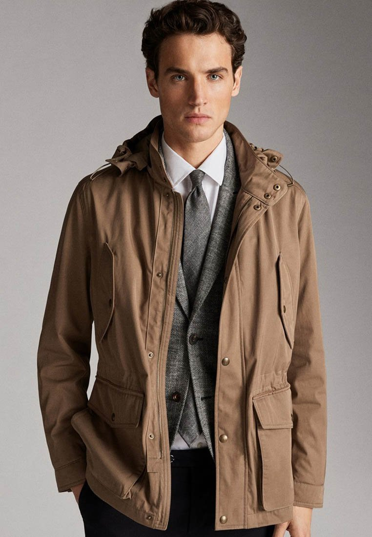 Massimo Dutti - JACKET WITH REMOVABLE GILET 03412222 - Parkas - beige