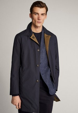 Trenchcoat - blue-black denim