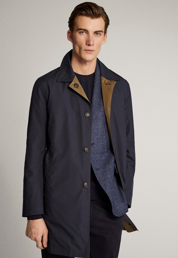 Massimo Dutti - Trenchcoat - blue-black denim