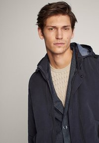 Massimo Dutti - Short coat - blue-black denim - 4