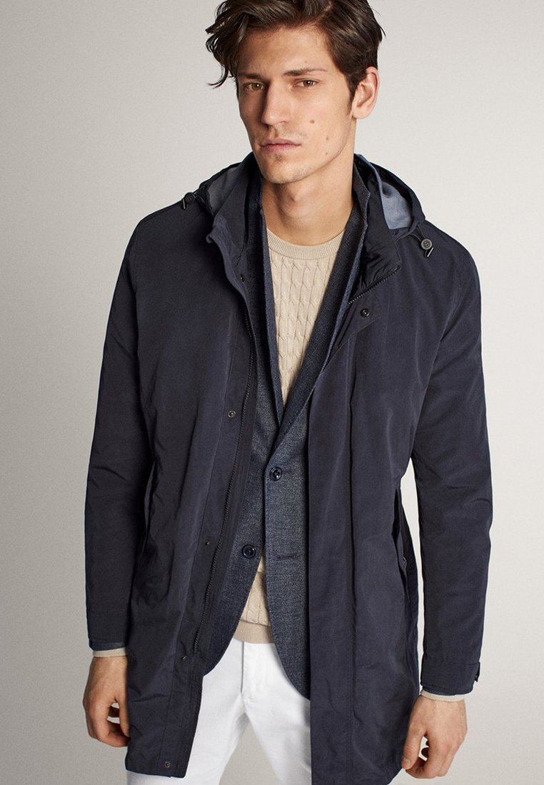 Massimo Dutti - Short coat - blue-black denim