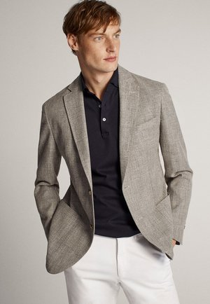 IN MELIERTER OPTIK - Blazer jacket - grey