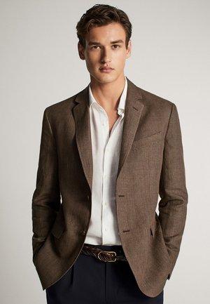 MIT HAHNENTRITTMUSTER - Blazer jacket - brown