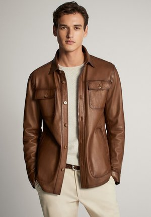 Veste en cuir - brown