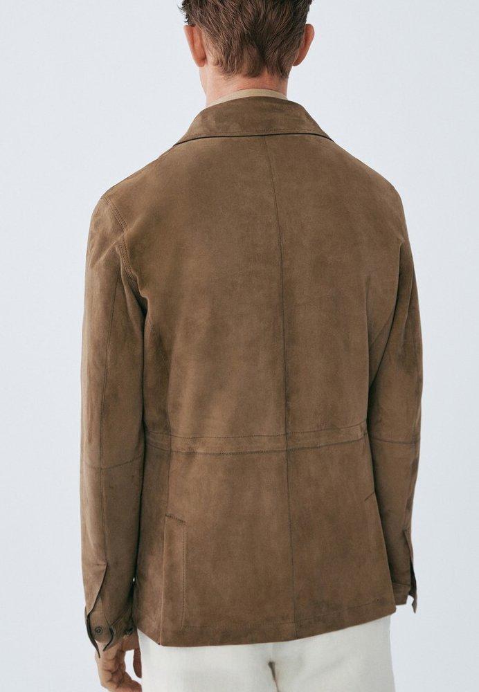 2013 Wholesale Massimo Dutti Leather jacket - brown | men's clothing 2020 x1OL7