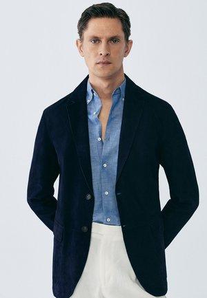 LIMITED EDITION - Leather jacket - blue-black denim