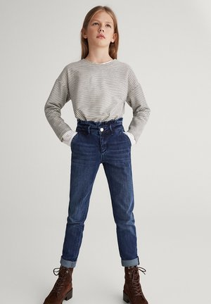 CASUAL-FIT-JEANS MIT VOLANT AN DER TAILLE 05007038 - Jean slim - blue