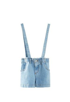MIT GÜRTEL  - Shorts - blue