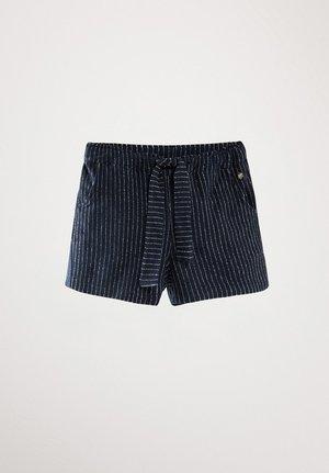 Shorts - blue-black denim