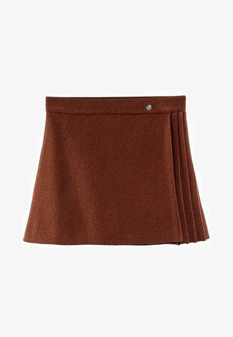 Massimo Dutti - MIT PLISSEE - A-snit nederdel/ A-formede nederdele - brown