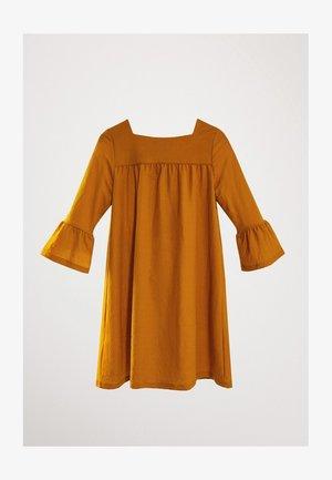 Korte jurk - mustard yellow