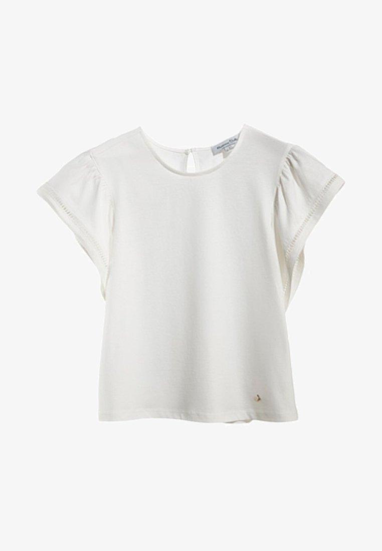 Massimo Dutti - MIT VOLANT  - T-shirts print - white
