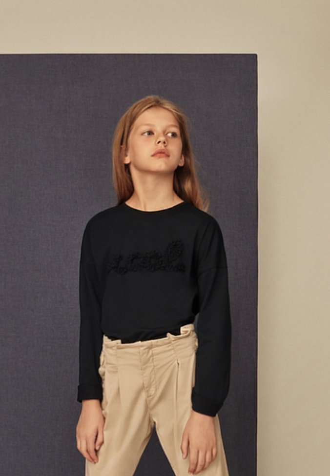 Massimo Dutti - COOL - Langærmede T-shirts - dark blue