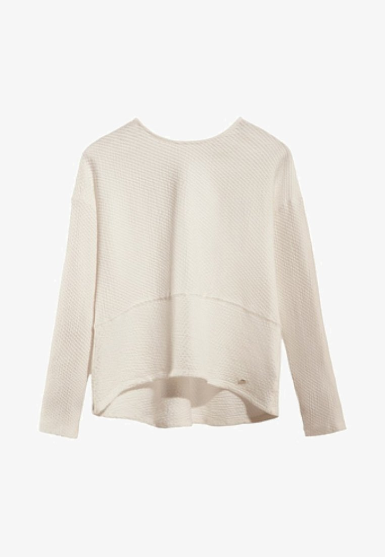 Massimo Dutti - MIT TEXTUR  - Long sleeved top - white