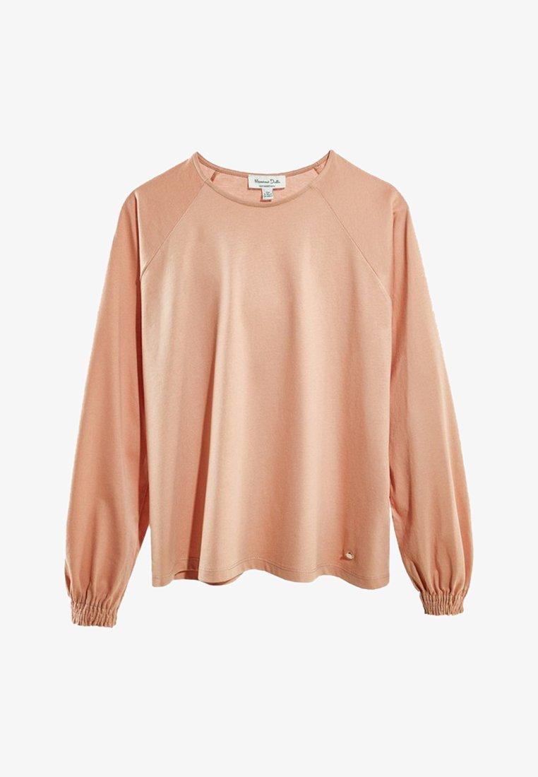 Massimo Dutti - MIT DETAIL AM ÄRMELBUND - Långärmad tröja - neon pink