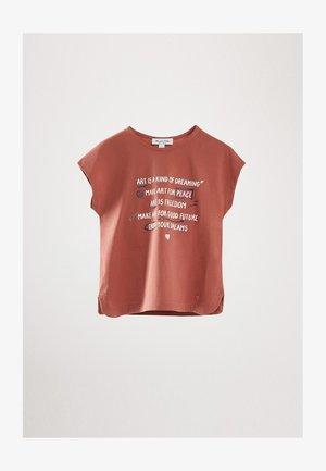 ART - T-shirt imprimé - coral