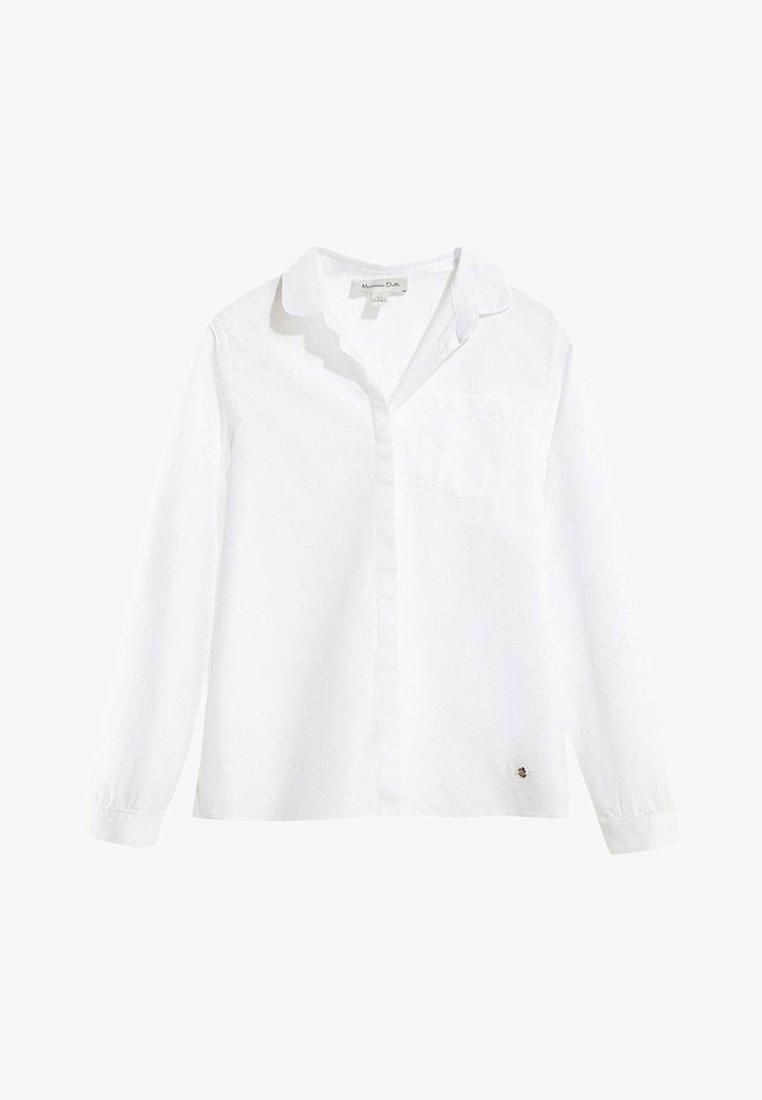 Massimo Dutti - MIT PUFFÄRMELN - Overhemdblouse - white