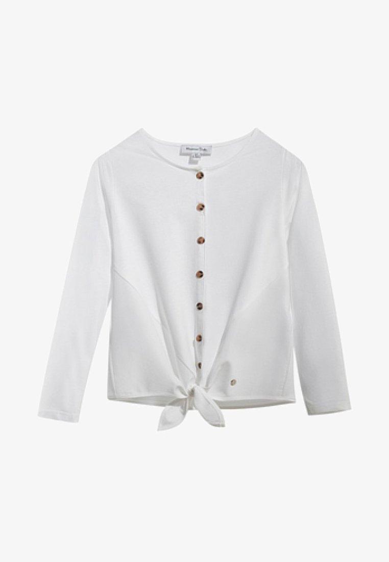Massimo Dutti - MIT KNOTEN - Long sleeved top - white