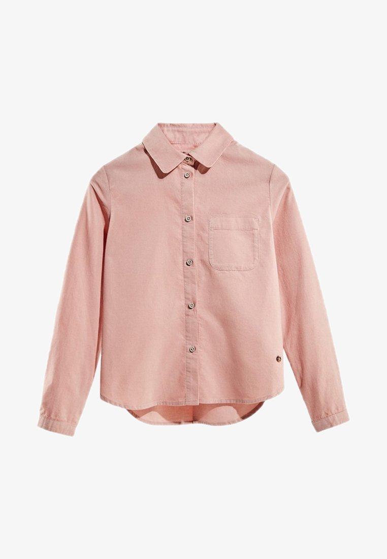 Massimo Dutti - MIT TASCHE - Button-down blouse - neon pink