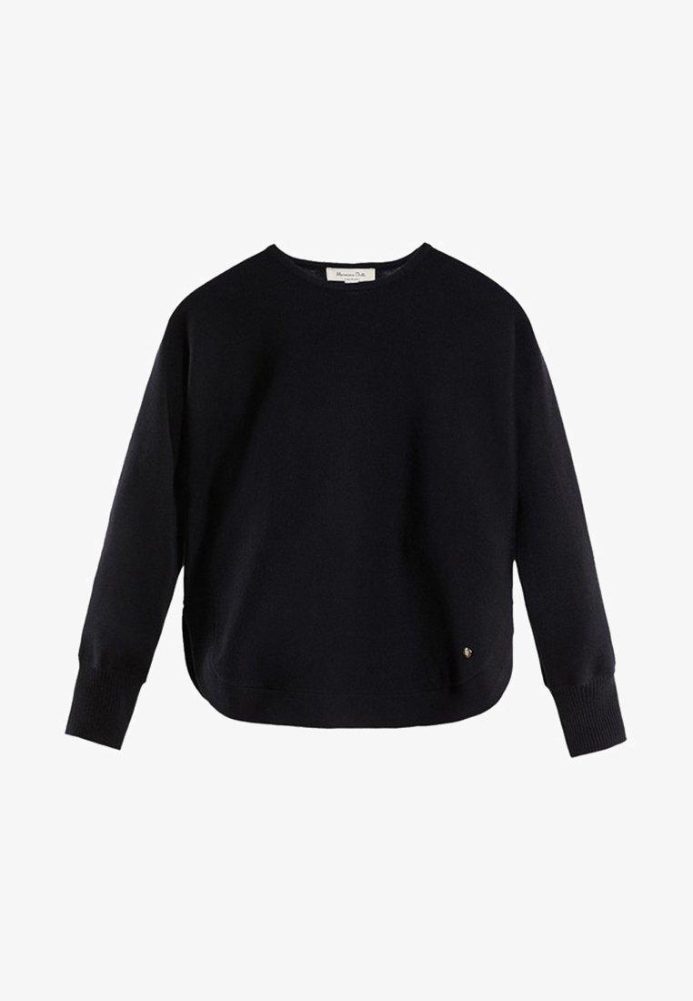 Massimo Dutti - CAPE-PULLOVER AUS BAUMWOLLE UND KASCHMIR 05606007 - Sweter - blue