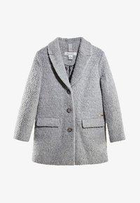 Massimo Dutti - MIT BOUCLÉ-STRUKTUR - Short coat - dark grey - 0