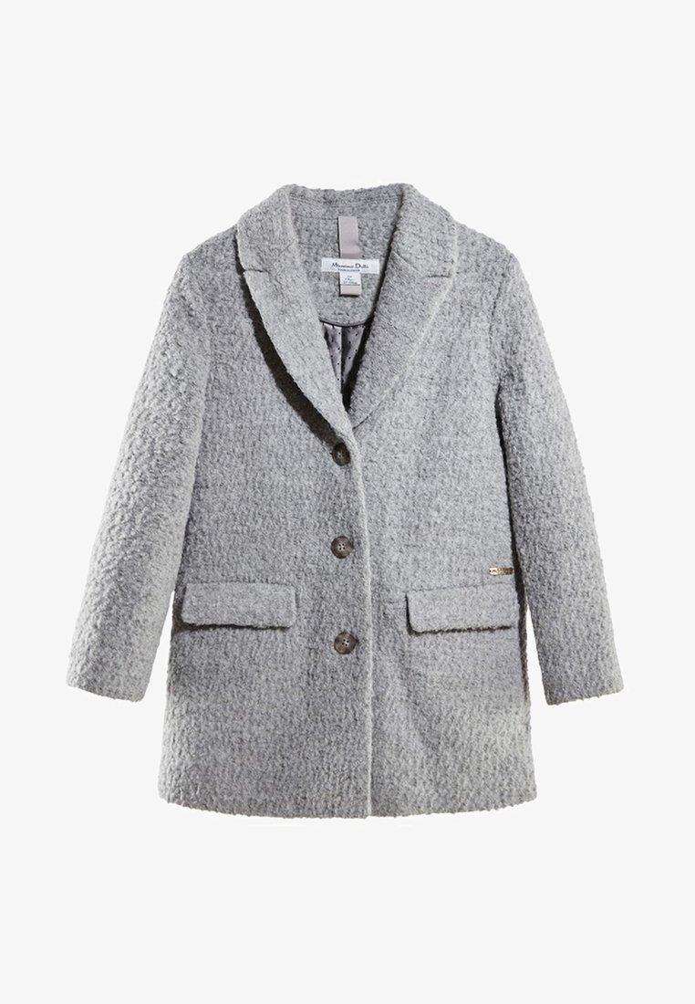 Massimo Dutti - MIT BOUCLÉ-STRUKTUR - Short coat - dark grey
