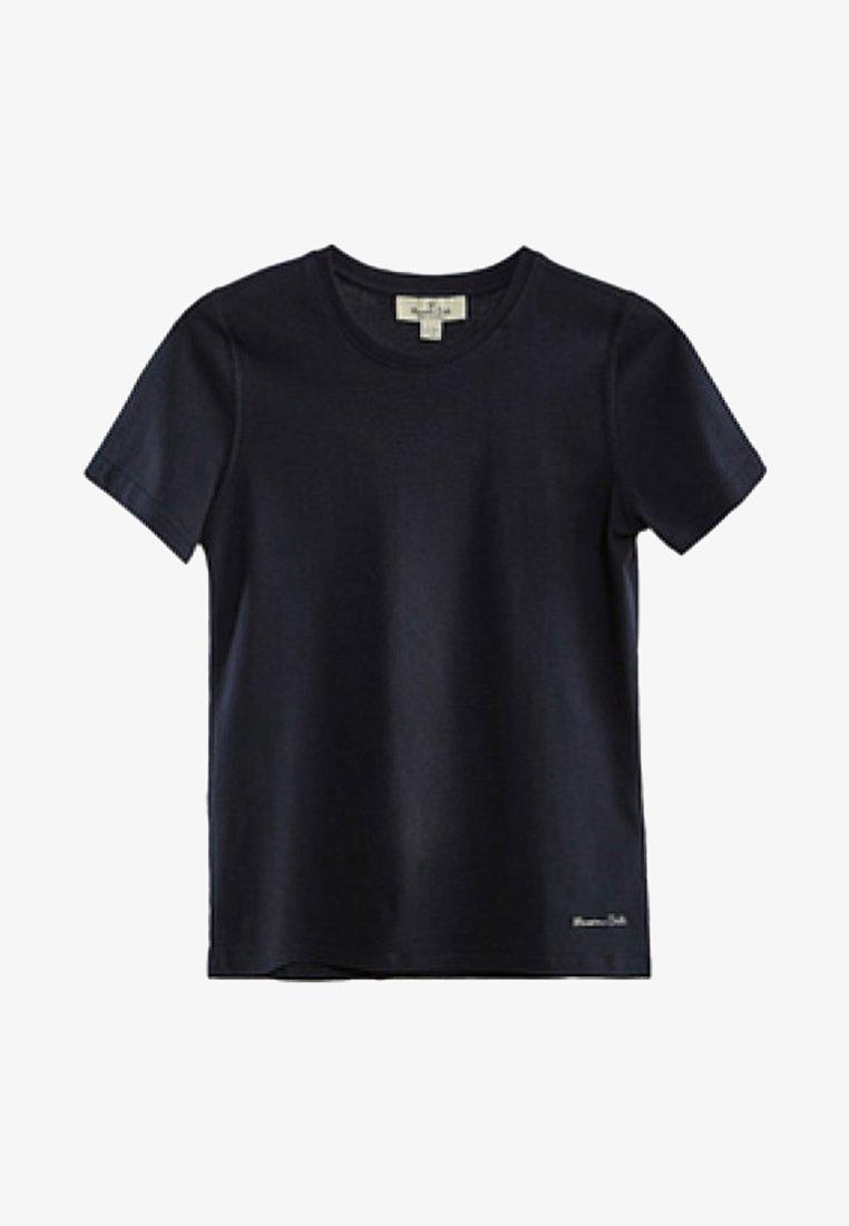 Massimo Dutti - Basic T-shirt - dark blue
