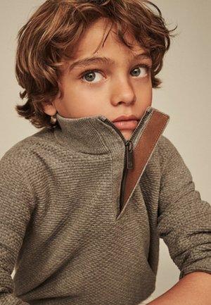 MIT STRUKTURMUSTER  - Stickad tröja - grey