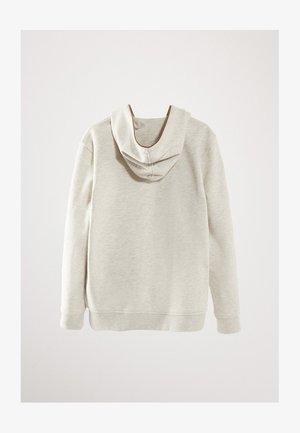 MIT BIESE IN KONTRASTFARBE  - Bluza rozpinana - grey
